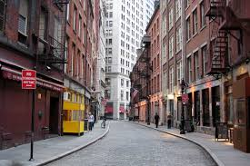 Visiting Stone Street in Lower Manhattan